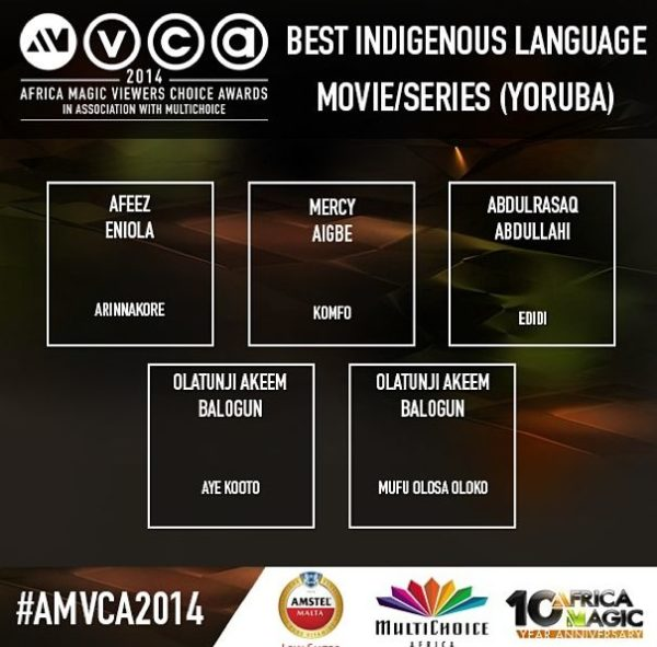 2014 AMVCA - Best Indigenous Movie Language Yoruba - December 2013 - BellaNaija