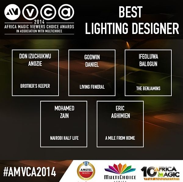 2014 AMVCA - Best Lightning Designer - December 2013 - BellaNaija