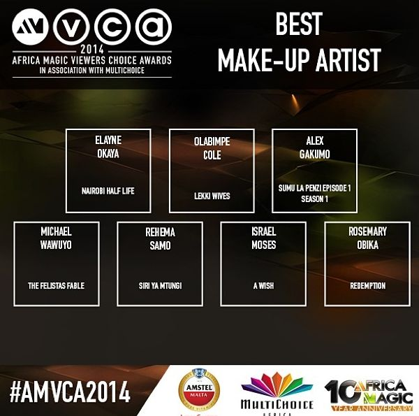 2014 AMVCA - Best Make-up Artist - December 2013 - BellaNaija