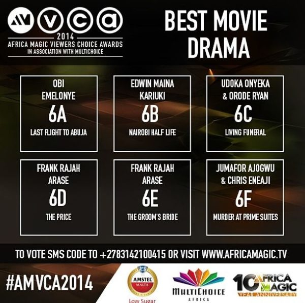 2014 AMVCA - Best Movie Drama - Decemeber 2013 - BellaNaija