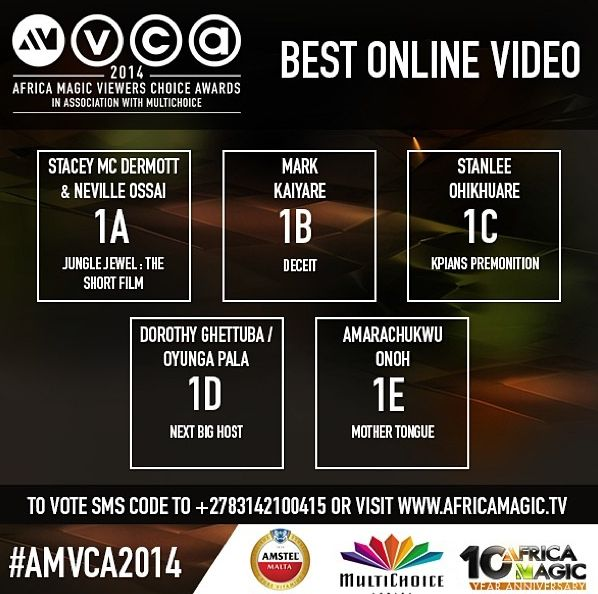2014 AMVCA - Best Online Video - Decemeber 2013 - BellaNaija