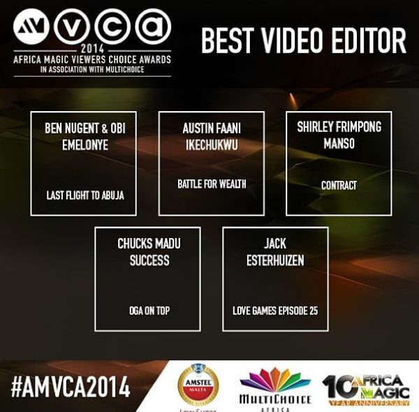 2014 AMVCA - Best Video Editor - December 2013 - BellaNaija
