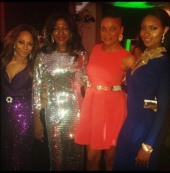 Toke Makinwa, Susan Peters, Matilda Obaseki-Mozia & Osas Ighodaro