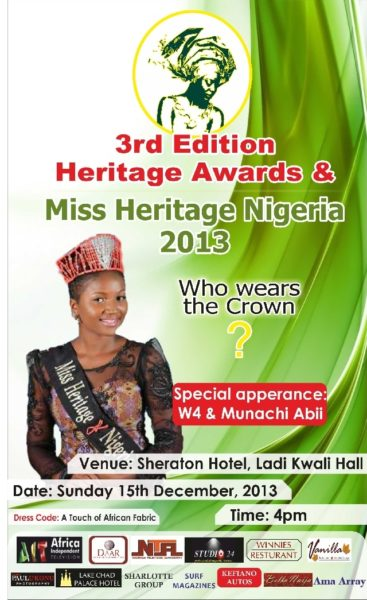 3rd Edition of the Miss Heritage Awards - December 2013 - BellaNaija