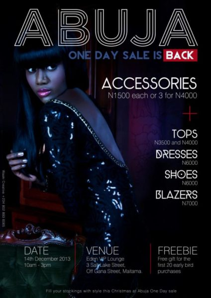 Abuja One- Day Sale - December 2013 - BellaNaija