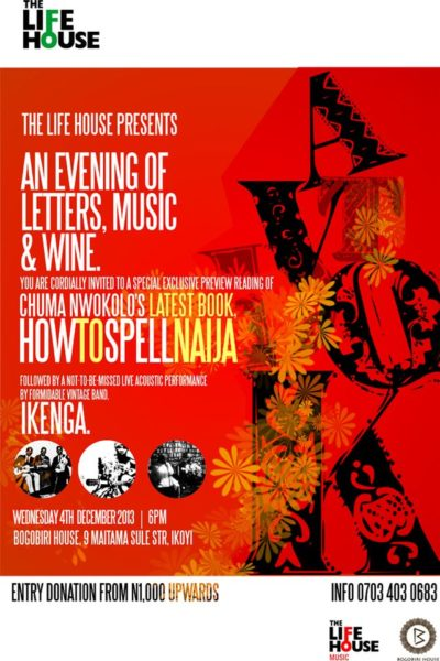 An Evening of Letters, Wine & Music - November 2013 - BellaNaija