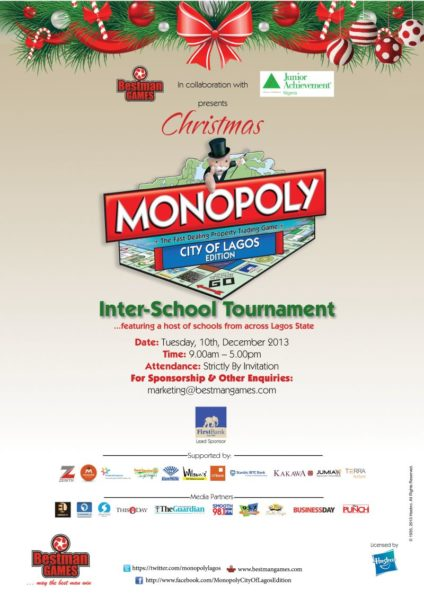 Bestman Games Monopoly Tournament - Bellanaija - December 2013