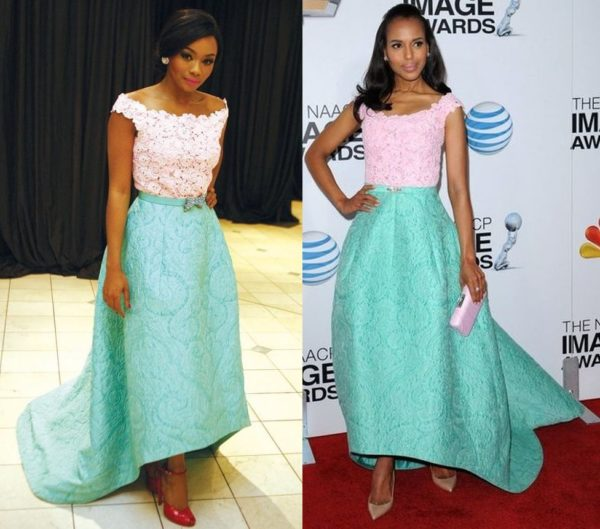 Bonang B Matheba & Kerry Washington in Oscar de la Renta - BellaNaijaStyle - BN Pick Your Fave - December 2013 - BellaNaija