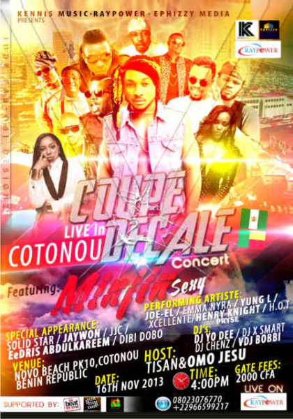 Coupe Decale Concert Live in Cotonou - November 2013