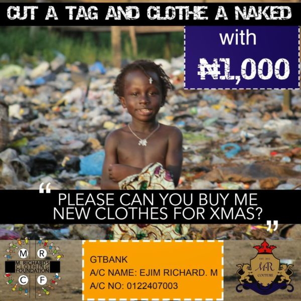 Cut a Tag & Clothe a Child - December 2013 - BellaNaija
