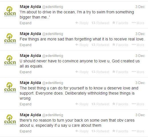 Eden Lifestyle Tweets