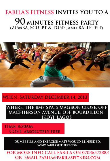 Fabila's Fitness 90 Minutes Fitness Party - December 2013 - BellaNaija