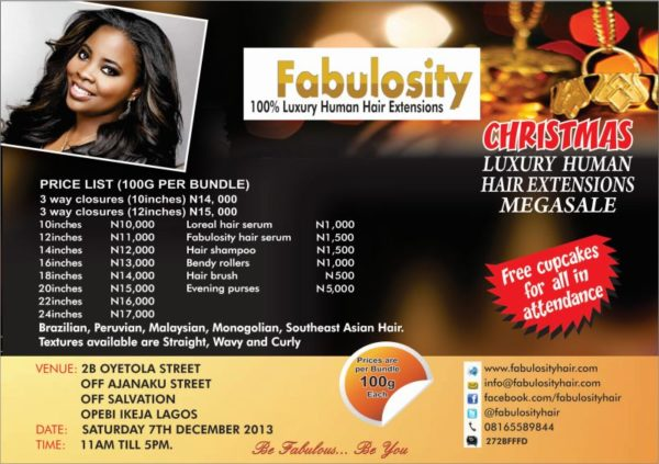 Fabulosity Hair Megasale - BellaNaija - December 2013