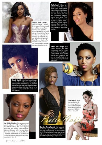 Glitz Africa Magazine - Most Beautiful Women in Africa  - December 2013 - BellaNaija (2)