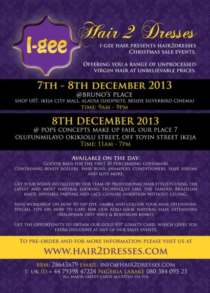 I-Gee Hair to Dresses Christmas event - BellaNaija - December 2013