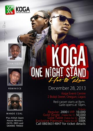 Koga Entertainment One Nite Stand Hot & Raw event - Bellanaija - Deecember 2013
