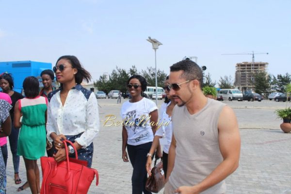 Majid Michel, Yvonne Okoro & Sandra Ankobiah arrive in Lagos for the 2014 AMVCA- BellaNaija- 031