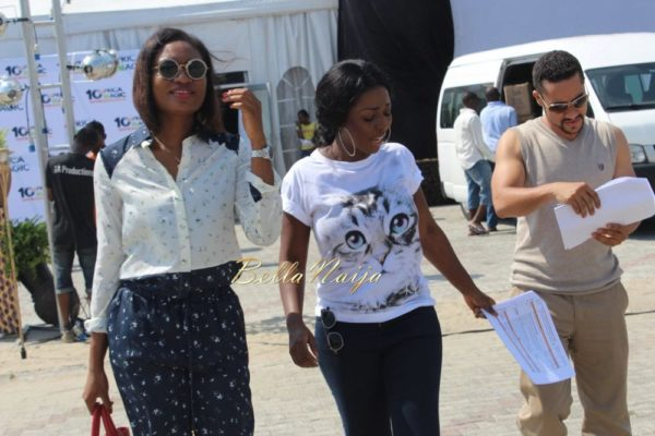 Majid Michel, Yvonne Okoro & Sandra Ankobiah arrive in Lagos for the 2014 AMVCA- BellaNaija- 032