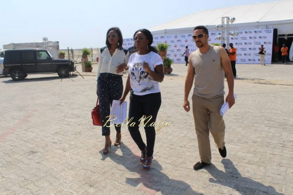 Majid Michel, Yvonne Okoro & Sandra Ankobiah arrive in Lagos for the 2014 AMVCA- BellaNaija- 033