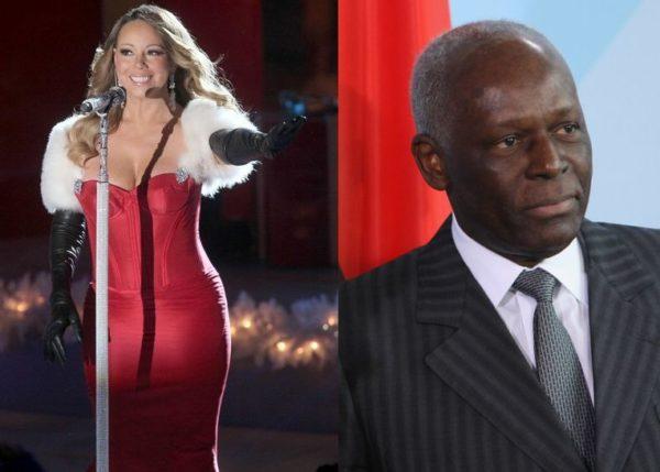 Mariah Carey & José Eduardo dos Santos - December 2013 - BellaNaija