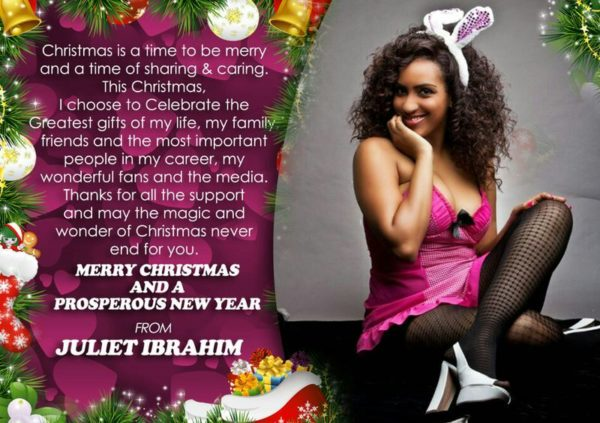Merry Christmas from Juliet Ibrahim - December 2013 - BellaNaija