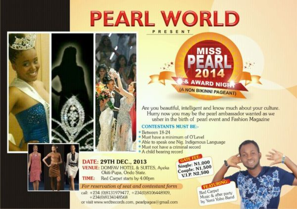 Miss Pearl 2014 - December 2013 - BellaNaija
