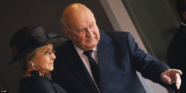 FW de Klerk with wife Elita