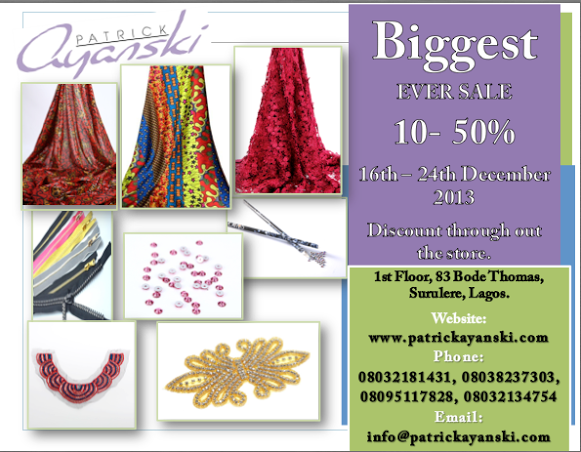 Patrick Ayanski Sale - BellaNaija - December 2013