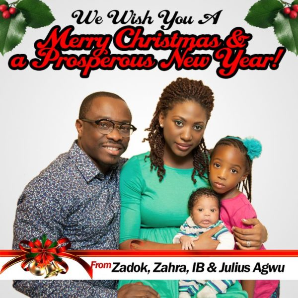 Season Greetings from the Agwus - December 2013 - BellaNaija
