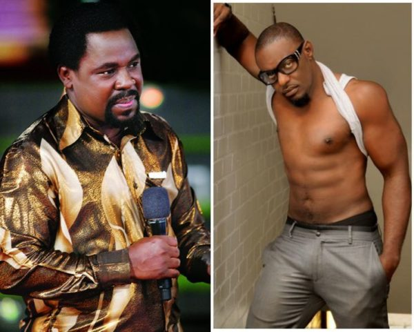 TB Joshua & Jim Iyke - December 2013 - BellaNaija