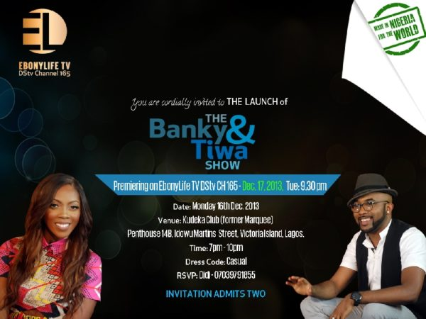 The Banky & Tiwa Show Launch - December 2013 - BellaNaija 01