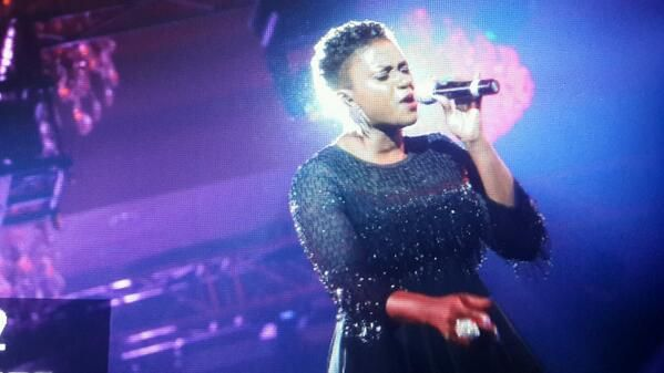 "Waje performing ""I Wish"""
