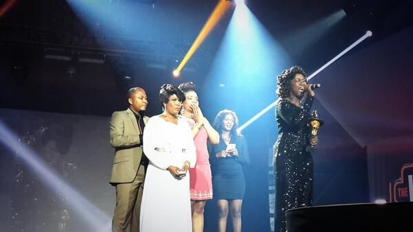 "Nikky Laoye accepting Best Female Vocal Performance award for ""Only You"""