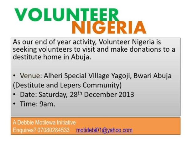 Volunteer Nigeria - December 2013 - BellaNaija