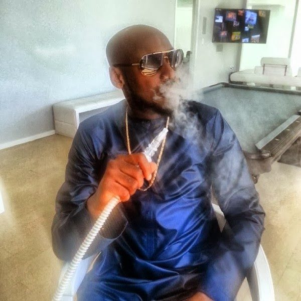 2Face Smoking - January 2014 - BellaNaija