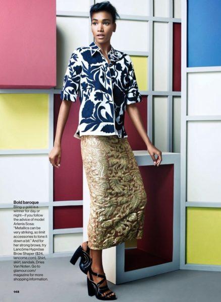 Arlenis Sosa for Glamour Magazine in African Designs - BellaNaija - January 2014004