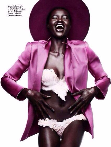Ataui Deng for Marie Claire France Magazine January 2014 - BellaNaija - January2014003