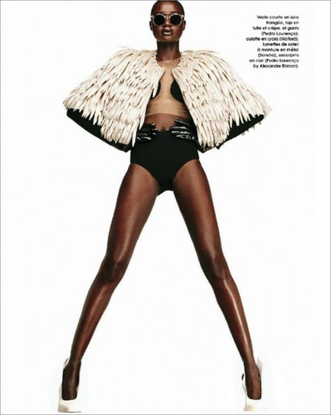 Ataui Deng for Marie Claire France Magazine January 2014 - BellaNaija - January2014009