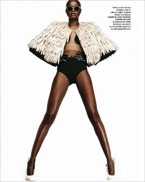 Ataui Deng for Marie Claire France Magazine January 2014 - BellaNaija - January2014009