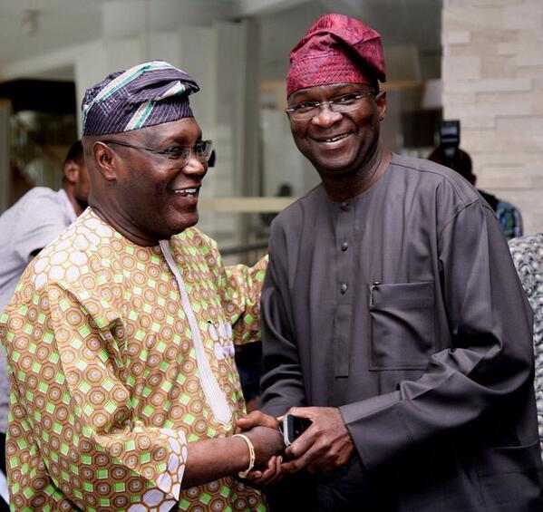 Atiku Abubakar & Babatunde Fashola - January 2014 - BellaNaija