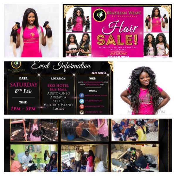 Brazilian Weave Hair Sale by Blessedluv - BellaNaija - January 2014