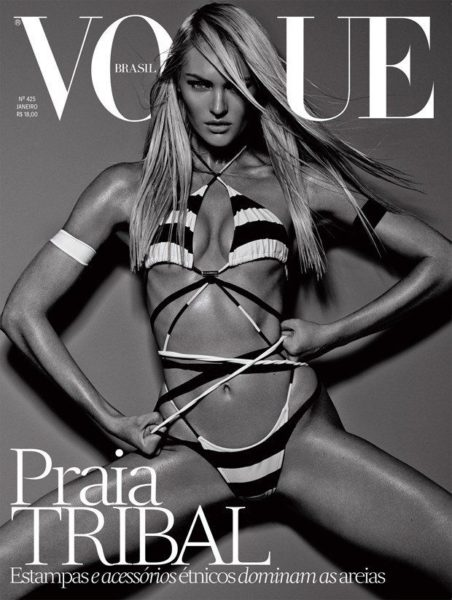 Candice Swanepoel for Vogue Brasil January 2014 - Bellanaija - January 2014002