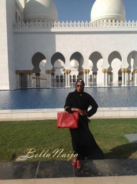 Chika Ike at Abu Dhabi Mosque - January 2014 - BellaNaija 01