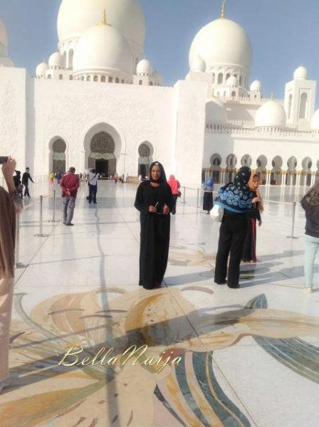 Chika Ike at Abu Dhabi Mosque - January 2014 - BellaNaija 02