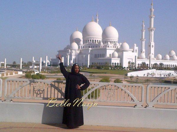 Chika Ike at Abu Dhabi Mosque - January 2014 - BellaNaija 03