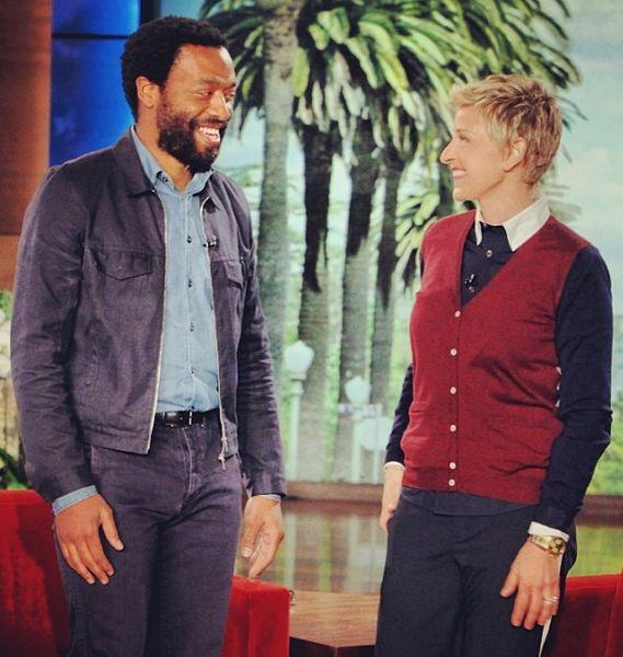 Chiwetel Ejiofor & Ellen DeGeneres on The Ellen Show - January 2014 - BellaNaija