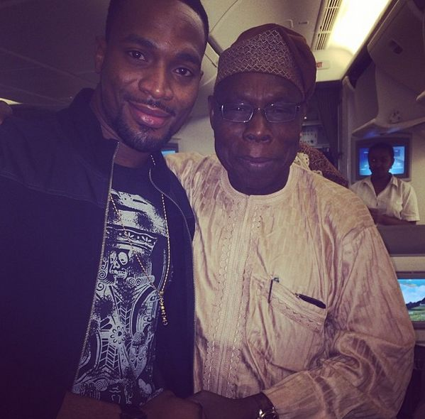 D'banj & Olusegun Obasanjo - January 2014 - BellaNaija