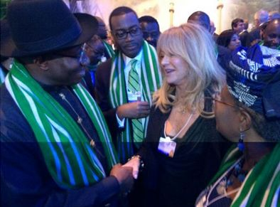 Goldie Hawn & President Goodluck Jonathan - January 2014 - BellaNaija 0