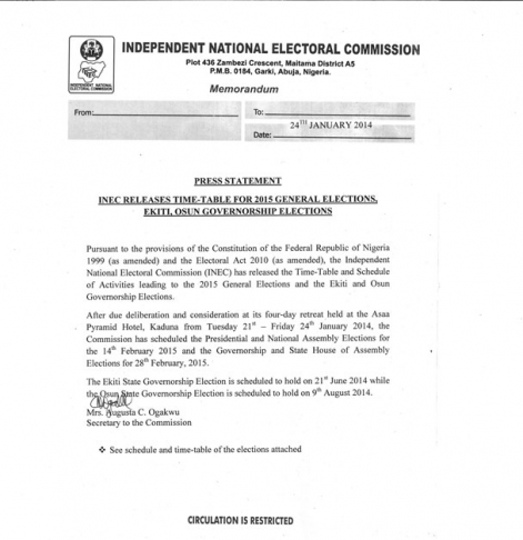 INEC - January 2014 - BellaNaija