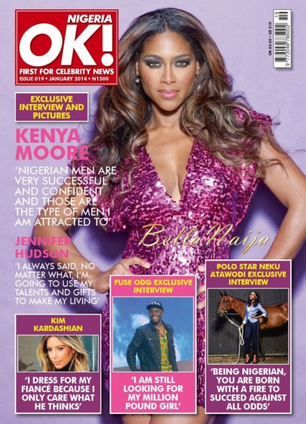 Kenya Moore - OK! Nigeria Magazine - January 2014 - BellaNaija